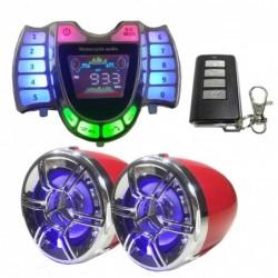 Motor stereo speakers - radio - waterdicht - microfoon - Bluetooth - USB - LED