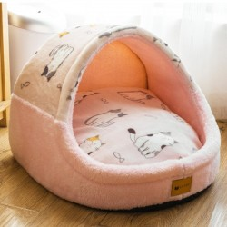 Warm pet bed - soft kennel - washable - non-skid