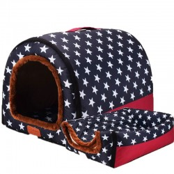 Foldable pet house - portable soft kennel - bed - for dogs / cats