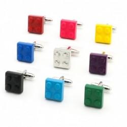 Classic cufflinks - multicolor bricks design
