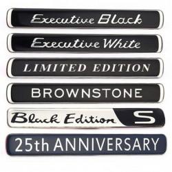 Autosticker - embleem - Brownstone / Executive White / Black / Limited Edition