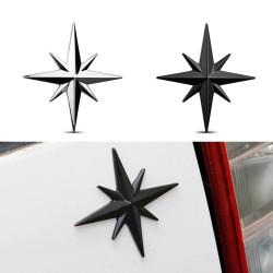 3D ster - auto / motor sticker - metalen embleem