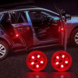 Autodeur LED waarschuwingslampje - draadloze magnetische inductie - 2 stuks
