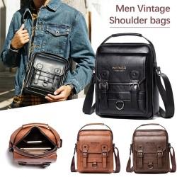 Vintage shoulder / crossbody bag - genuine leather