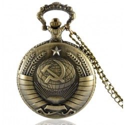 Vintage Russian Style Quartz Pocket Watch