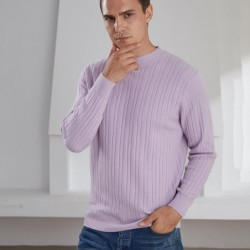 Elegant men's sweater - pure goat cashmere