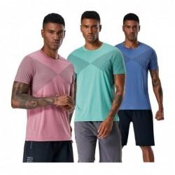 Heren sport t-shirt - sneldrogend - elastisch - compressie