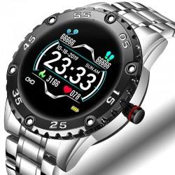 Smart Watch - elektronisch stalen horloge - LED - digitaal - waterdicht - hartslag/bloeddruk