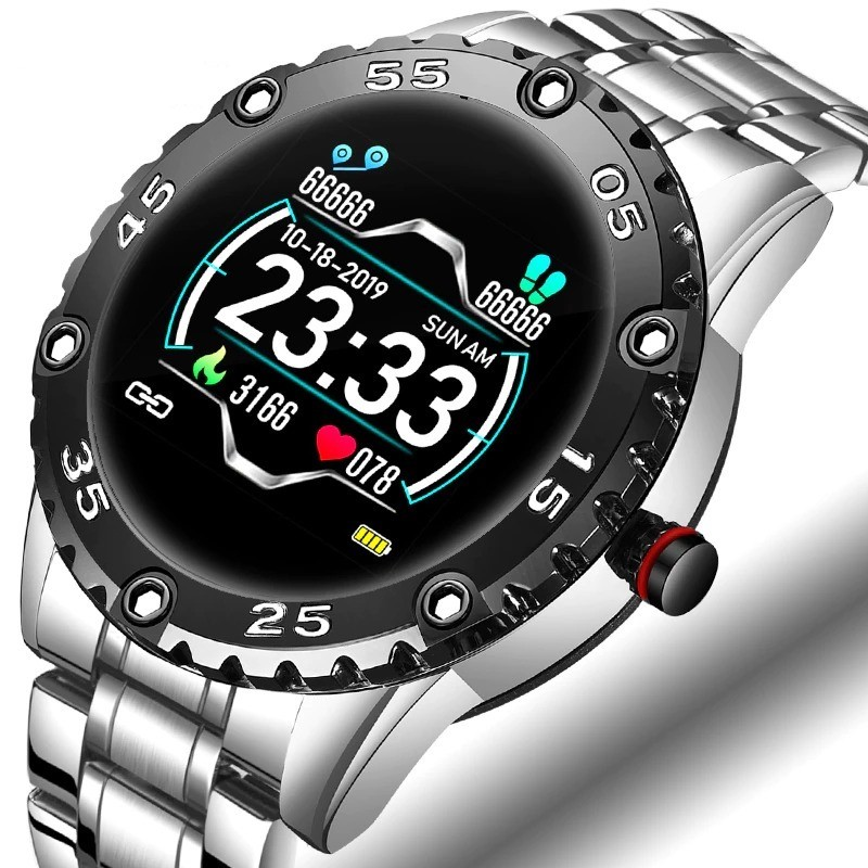 Smart Watch - electronic steel watch - LED - digital - waterproof - heart rate / blood pressure