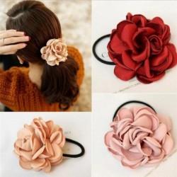 Elegante elastische haarband - met grote roos