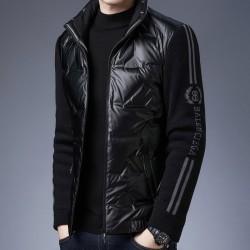 Fashionable short jacket - shiny down winter windbreaker