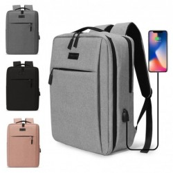 Trendy laptop bag - backpack - with USB charging port - waterproof