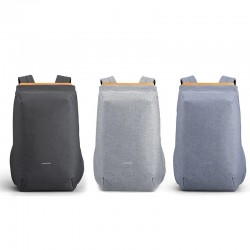 Fashionable backpack - bag for 15'' laptop - with USB charging port - waterproof
