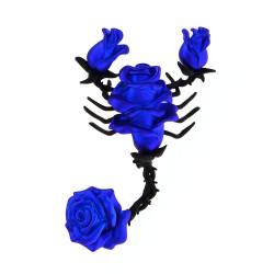 Broche in de vorm van een schorpioen met rozen