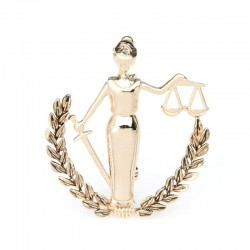 Gold Silver Color Libra Constellation Brooches Women Metal Party Banquet Brooch Pins Gifts