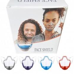 Transparant beschermend gezichtsmasker - plastic schild - met filter