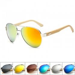 Bamboo & metal - handmade sunglasses - unisex