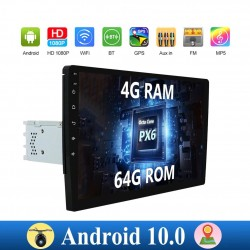 Android 10 - autoradio met touchscreen - 1 din - 2 din - WiFi - GPS - Bluetooth - FM - AM - RDS - SWC - DSP - 4G RAM 64G ROM