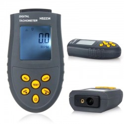 Digital laser tachometer - LCD / RPM test - non-contact - HS2234