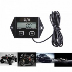 Digital engine tachometer - hour meter gauge - RPM - LCD - for motorcycles / cars / boats