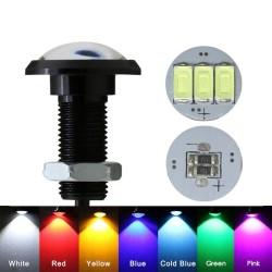 Car / motorcycle lamp - eagle eye - LED - DRL - 12V / 24V - 18mm / 23mm