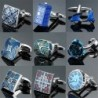 Luxurious vintage cufflinks - square / round / blue / green / crystal