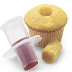 Cupcake / muffin corer - plastic plunger