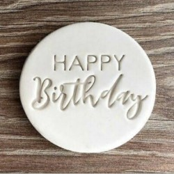 Cookie cutter mold - Happy Birthday lettering