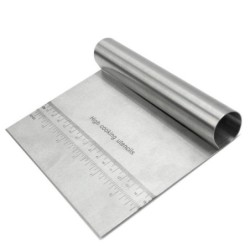Stainless steel dough slicer - with scale