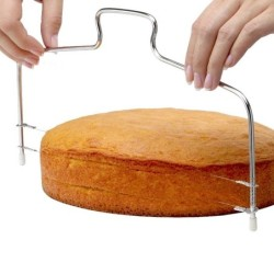 Cake slicer - stainless steel wire - adjustable height