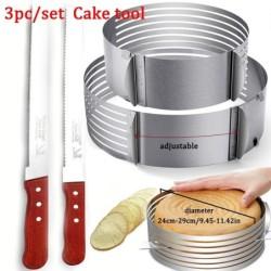 Cake slicer / mold - bread knife - stainless steel