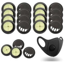10 stuks - Gezichts- / mondmasker luchtklepfilters - vervangend filter