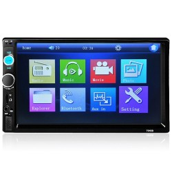Bluetooth - DIN 2 Autoradio - 7 Zoll LCD Touchscreen - MP3 MP5 Player - MirrorLink