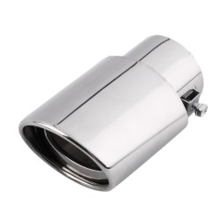 Universal Car Exhaust Muffler Stainless Steel Pipe Chrome