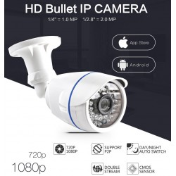 1.0MP / 2MP Bullet 720P IP Camera 1080P Outdoor IR 20m HD Security Waterproof Night Vision P2P CCTV IP ONVIF IR Cut XMEye