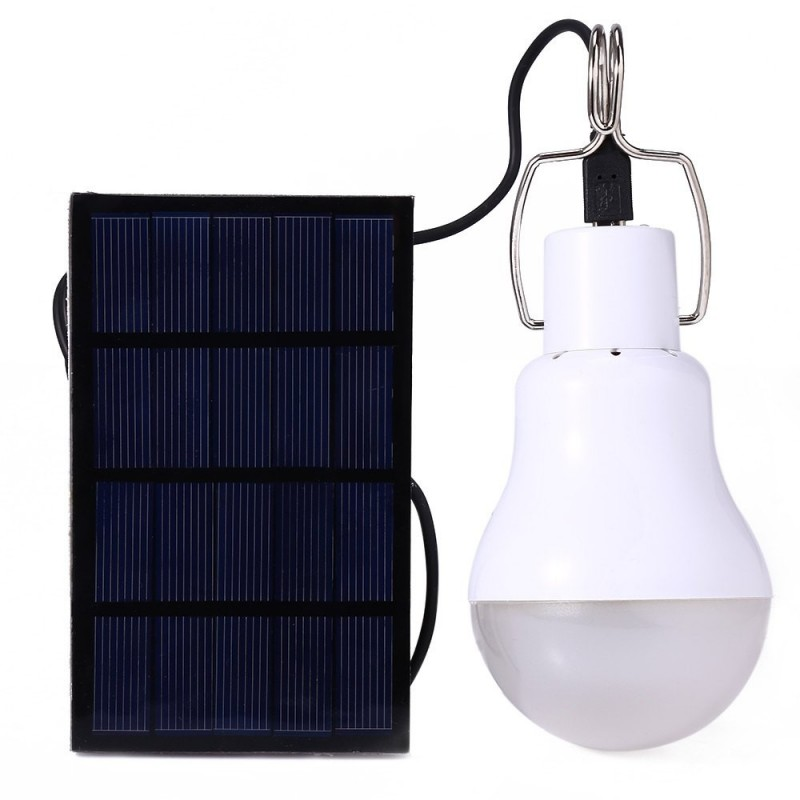 Solar Panel Chargeable Bulb Led Light