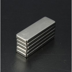 N35 Neodymium Magnet Strong Cuboid Block  30 * 10 * 3mm 5pcs