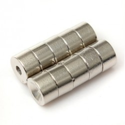 N50 Neodymium Magnet Strong Disc Countersunk With 2mm Hole 7 * 4mm 10pcs