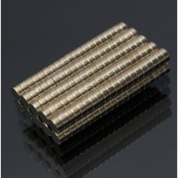 Cylindre Magnétique de Néodyme de N35 3 * 1.5mm 200pcs