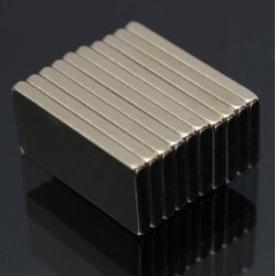 N52 Neodymium Magnet Strong Block 20 * 10 * 2mm 10pcs