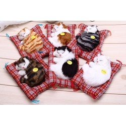 Animal Doll Plush Sleeping Cat Toy With Sound Toy
