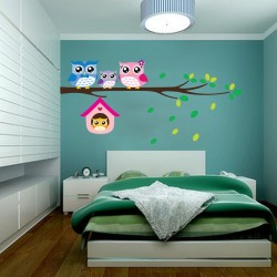 Removable Owl Birds Vinyl Wall Sticker