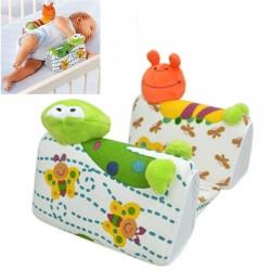 Baby Infant Frog Cartoon Anti Roll Pillow Cushion Side Sleep Positioner
