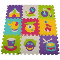 Kids Animal Pattern Puzzle Mat 9pcs Set