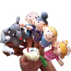 Fairy Tale The Enormous Turnip Finger Puppets Set  8pcs