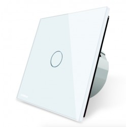 White Crystal Glass Wall Touch Switch