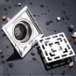 Vierkante roestvrijstalen badkamer afvoerputje 10cm * 10cm