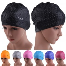 Flexible waterproof silicone swimming cap - unisex