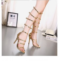 Strappy Roman Sandals High Heel Pumps