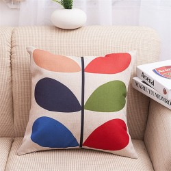 Printed Lucky Leaves Pillowcase Cushion Cover 45 * 45cm